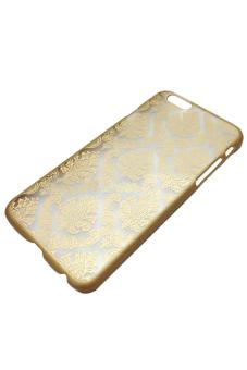 Blue lans Retro Damask Pattern Matte Case Cover (Golden) - picture 2
