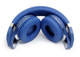 BLUEDIO T2+ Turbine Plus Bluetooth Headphones Wireless Headset MP3Player (Blue) - 4