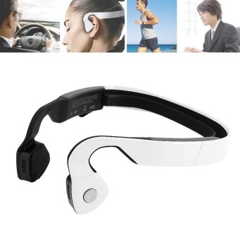 Bluetooth Bone Conduction Headphone Sports Wireless HeadsetsPost-hanging Earphones (White) - intl