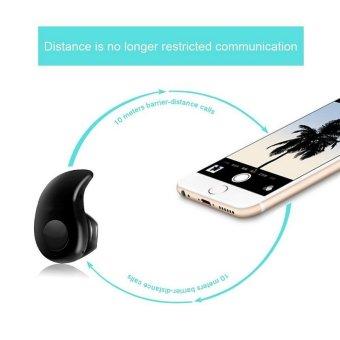 Bluetooth Earphone Mini Wireless in ear Earpiece Cordless Handsfree Headphone Blutooth Stereo Auriculares Earbuds HeadsetPhone(Black) - intl - 3