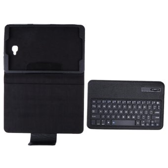 Bluetooth Keyboard Leather Case +Stand for Samsung Galaxy Tab A10.1 T580 S(Black) - intl