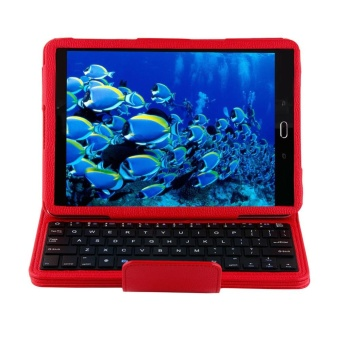 Bluetooth Keyboard Leather Case + Stand for Samsung Galaxy Tab S2T810/Tab(Red) - intl - 2