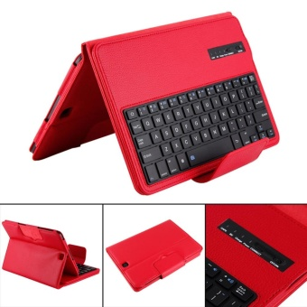 Bluetooth Keyboard Leather Case + Stand for Samsung Galaxy Tab S2T810/Tab(Red) - intl - 3