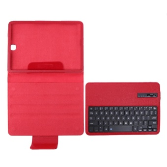 Bluetooth Keyboard Leather Case + Stand for Samsung Galaxy Tab S2T810/Tab(Red) - intl