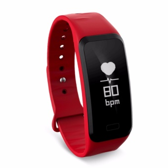 Bluetooth Smart Bracelet Waterproof Fitness Tracker Blood Pressure Oxygen Heart Rate Monitor Smart Wristband Band for Android IOS - intl