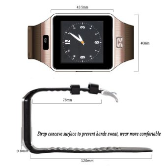 Bluetooth Smart Watch Phone & Camera Support SIM Card for Android/iOS Phone - 4