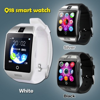 Bluetooth Smart Watch Q18 With Camera Facebook Whatsapp Sync SMSMP3 Smartwatch Support SIM TF Card For IOS Android Phone(White) - 4