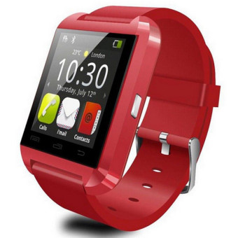 Bluetooth Smart Watch U8 Wrist Watch For Android Phone (Red) - Intl