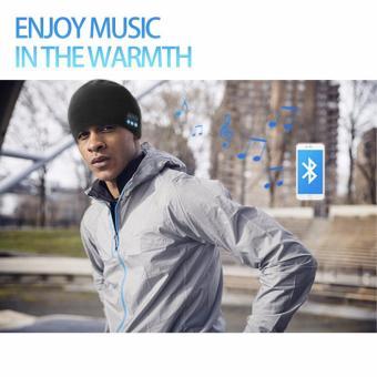 Bluetooth Wireless bonnet Music with Stereo Speakerphone HeadsetEarphone Speaker Mic Phone Call-Dark Grey - 4