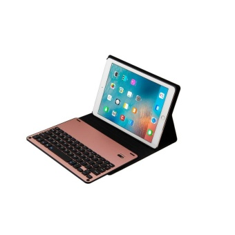"Bluetooth Wireless Keyboard + Cover Case Stand Holder Slim Ultra-thin Leather For Apple New iPad 9.7 (2017 Release)/ iPad Air 1 / iPad Air 2 / iPad Pro 9.7"" - intl"