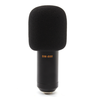 BM800 Condenser Microphone Mic Sound Studio Recording Kit With Shock Mount Kit (Black) -intl