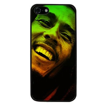 Bob Marley Pattern Phone Case for iPhone 5C (Black)