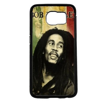 Bob Marley Pattern Phone Case For Samsung Galaxy S6 (Black) - picture 2