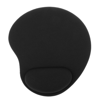 BolehDeals Mouse Pad with Gel Rest Wrist Support Mat Gaming for PC Laptop Black