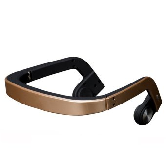 Bone Conduction Bluetooth Headset (Gold) - Intl Price Philippines