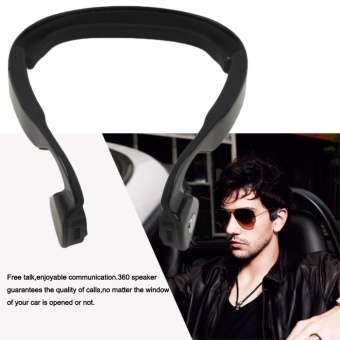 Bone Conduction Noise Reduction Headphone Wireless BluetoothOutdoor Sports Running Riding Earset Earphone Hands-free VoiceMusic Stereo with Mic Conduct Headset Earbud for IOS Android SmartPhone Mobile Cellphone Tablet - intl - 5