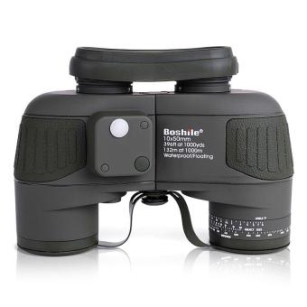 Boshile binocular Military 10x50 professional Marine binocularsWaterproof Digital Compass telescope high power glimmer nightvision(Black) - intl - 4