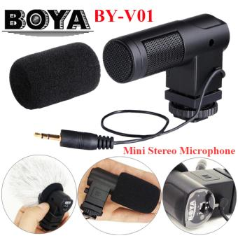 BOYA BY-V01 Stereo X/Y Mini Condenser Microphone / Mic for Canon Nikon Pentax Sony DSLR Camcorder