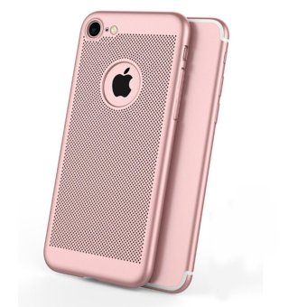 Breathable cooling mobile phone shell iphone 6 plus frosted dropprotection cover for Apple 6plus(pink) - intl Price Philippines