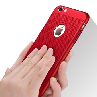Breathable cooling mobile phone shell iphone 6 plus frosted dropprotection cover for Apple 6plus(red) - intl Price Philippines