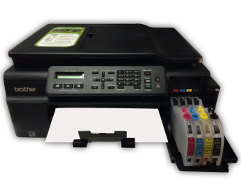 Brother Inkjet MFC-J200 Multi-Function Printer with Inkwise PremiumContinuous Ink System and Premium UV-Dye Ink - 2