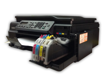 Brother Inkjet MFC-J200 Multi-Function Printer with Inkwise PremiumContinuous Ink System and Premium UV-Dye Ink - 3