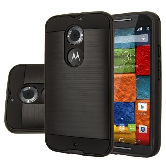 Brushed Protective Hard Case Cover For Motorola Moto X (2nd Gen) (Black) Price Philippines