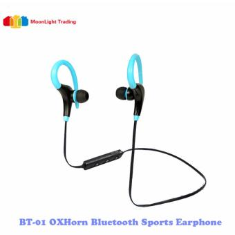 BT-01 OxHorn Bluetooth Sweatproof Sports In-Ear Headset(Blue)