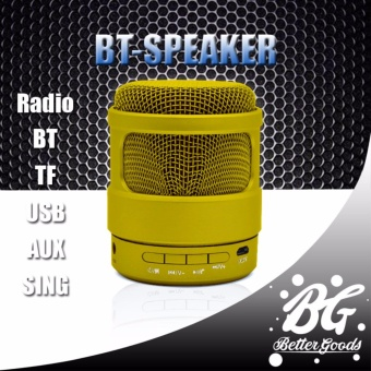 BT Speaker S-13 microphone portable mini bluetooth subwooferspeakers Support TF card Built in MIC AUX 3.5mm Slot (Yellow) Price Philippines