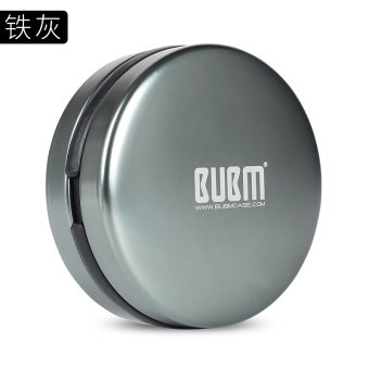 Bubm metal anti-pressure Bluetooth headset bag headset storage box