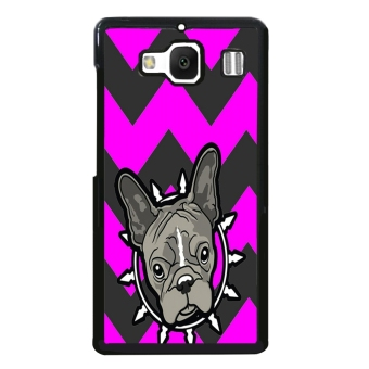 Bulldog Chevron Pattern Case for XiaoMi RedMi 2 (Purple)
