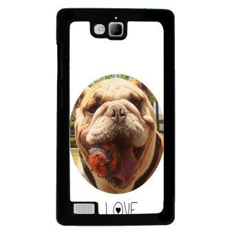 Bulldog Dog Pattern Phone Case for Huawei Honor 3C (Black)