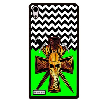 Bunny Rabbit Pattern Phone Case for Huawei Ascend P6 (Green)