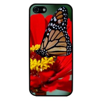 Butterfly Design Pattern Phone Case for iPhone 4/4S (Black)