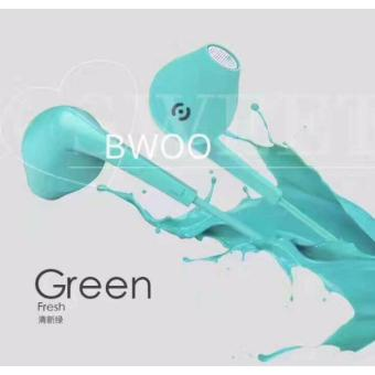 BWOO Original High Quality Super Bass Earphone (Mint Green) Price Philippines