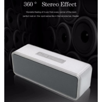 By1040 Wireless Subwoofer Bluetooth Active Speaker With TfHandsfree Functions (Silver) - 2