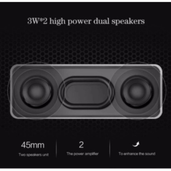 By1040 Wireless Subwoofer Bluetooth Active Speaker With TfHandsfree Functions (Silver) - 3