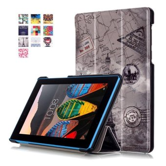 BYT Colorful Printing Tablet Leather 3 Folio Flip Cover Case for Lenovo Tab3 7 Essential TB3