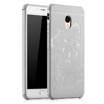 Philippines | BYT Dragon Debossed Silicon Screen Protective Cover Case for MeizuM3E Meilan E(Grey