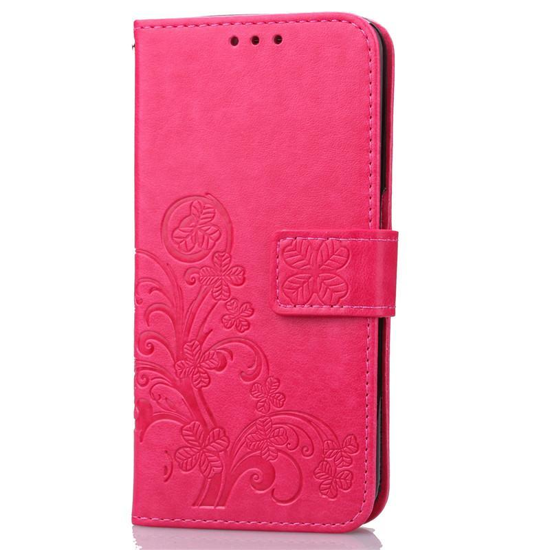 ... BYT Flower Debossed Leather Flip Cover Case for Samsung Galaxy J7 Prime - intl ...