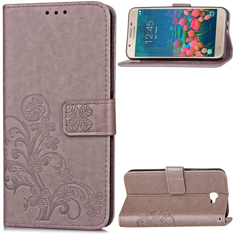 ... BYT Flower Debossed Leather Flip Cover Case for Samsung Galaxy J7Prime - intl ...