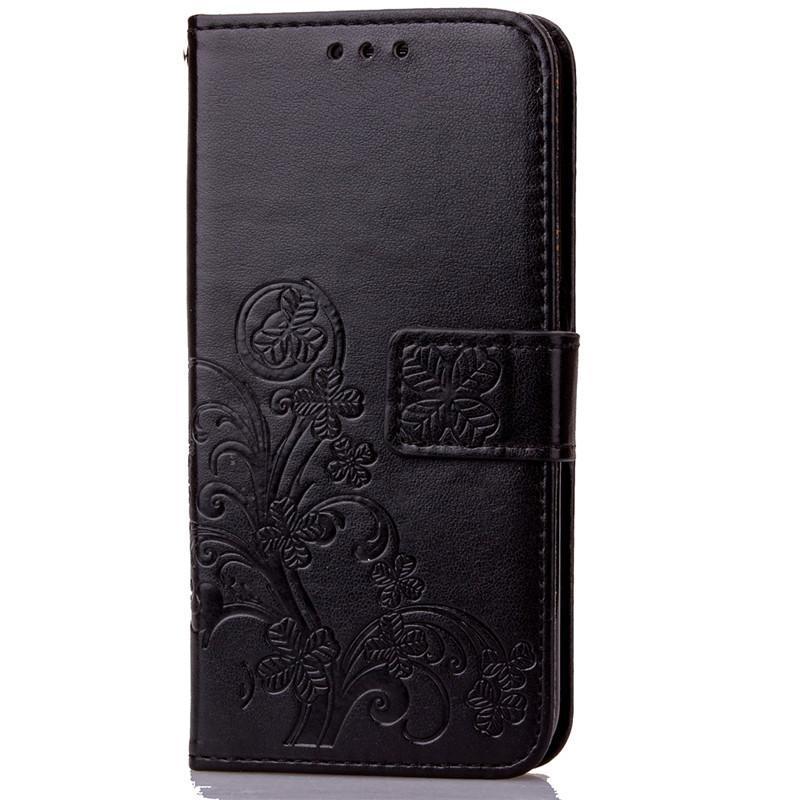 BYT Flower Debossed Leather Flip Cover Case for Samsung Galaxy J7Prime - intl .