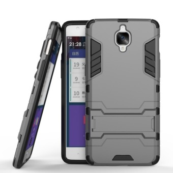 BYT Iron Man Hybrid Phone Case for OnePlus 3 (Grey)