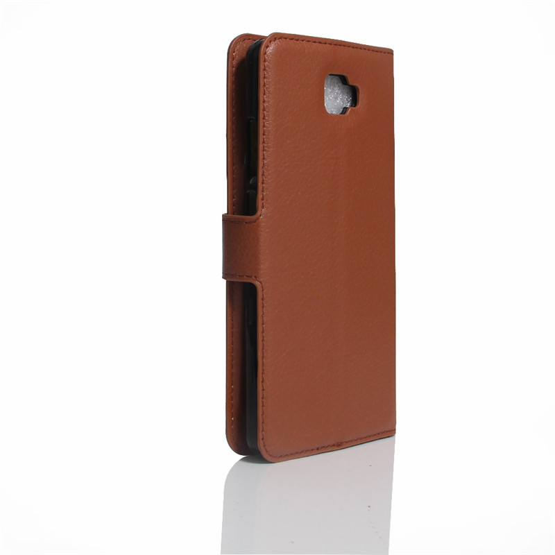 BYT Leather Flip Cover Case for Samsung Galaxy J7 Prime (Brown)