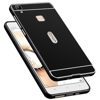 BYT Metal Bumper+PC Back Cover Case for Vivo V3 (Black)