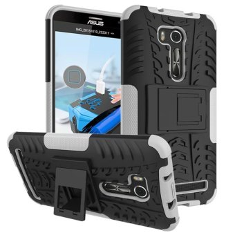 BYT Rugged Dazzle Case for Asus Zenfone Go TV ZB551KL with Kickstand (White)