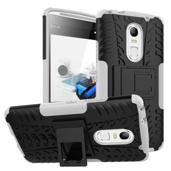 BYT Rugged Dazzle Case for Lenovo Vibe X3 with Kickstand (White)