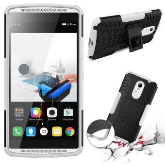 BYT Rugged Dazzle Case for Lenovo Vibe X3 with Kickstand (White) - 2