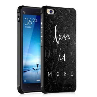 BYT Silicon Debossed Printing Cover Case for Xiaomi Mi 4C / Mi 4i -intl