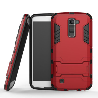 BYT TPU+PC Hybrid Phone Case for LG K10 (Red)
